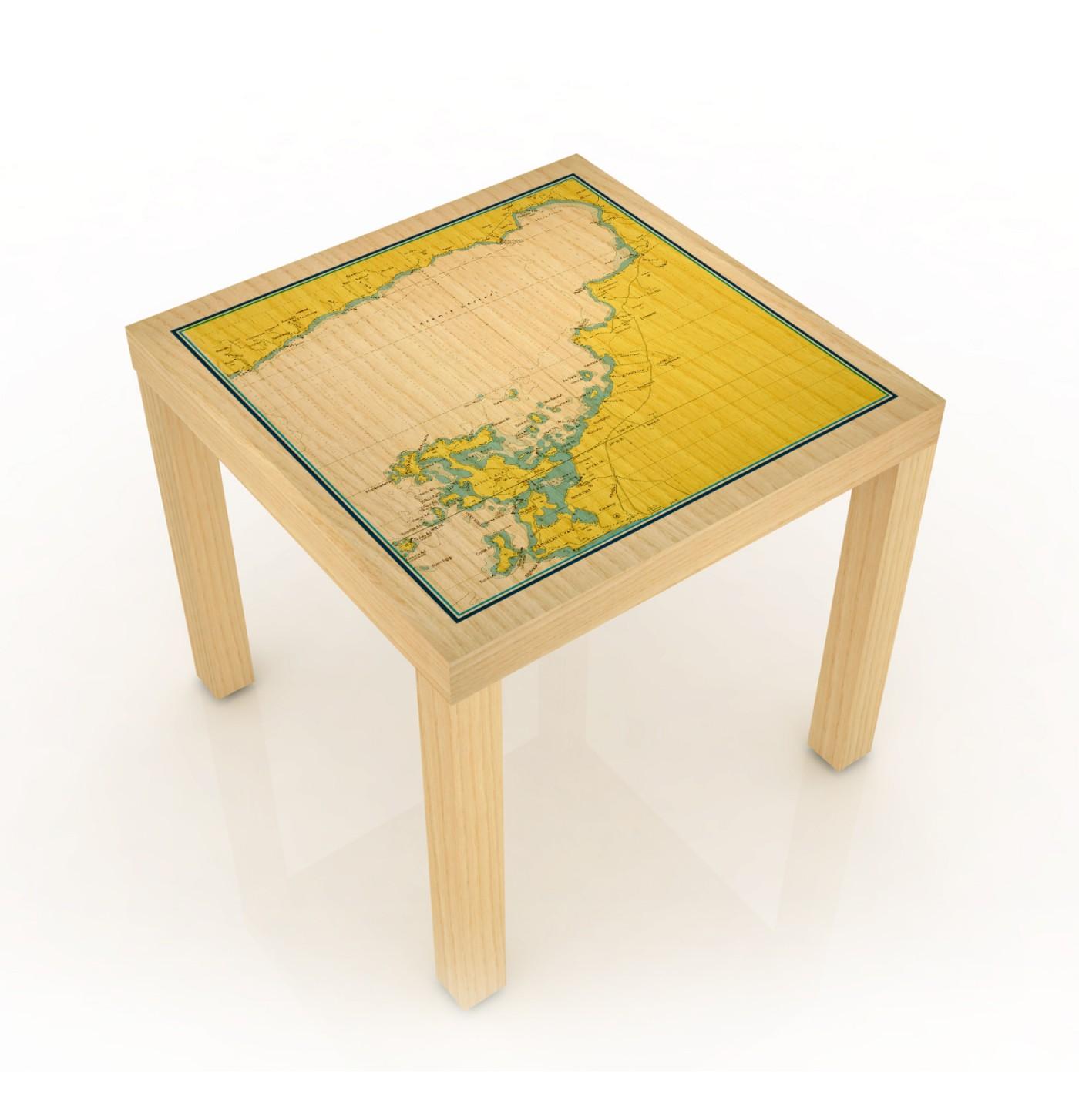 Ayvalık - Cunda  Marin Haritalı Sehpa