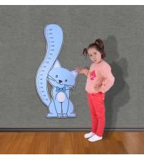 Mavi Kedicik Boy Ölçer