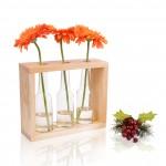 Dekoratif Üçlü Vazo Doğal Çam