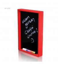 Seni Seviyorum Kırmızı Yazboz Pano