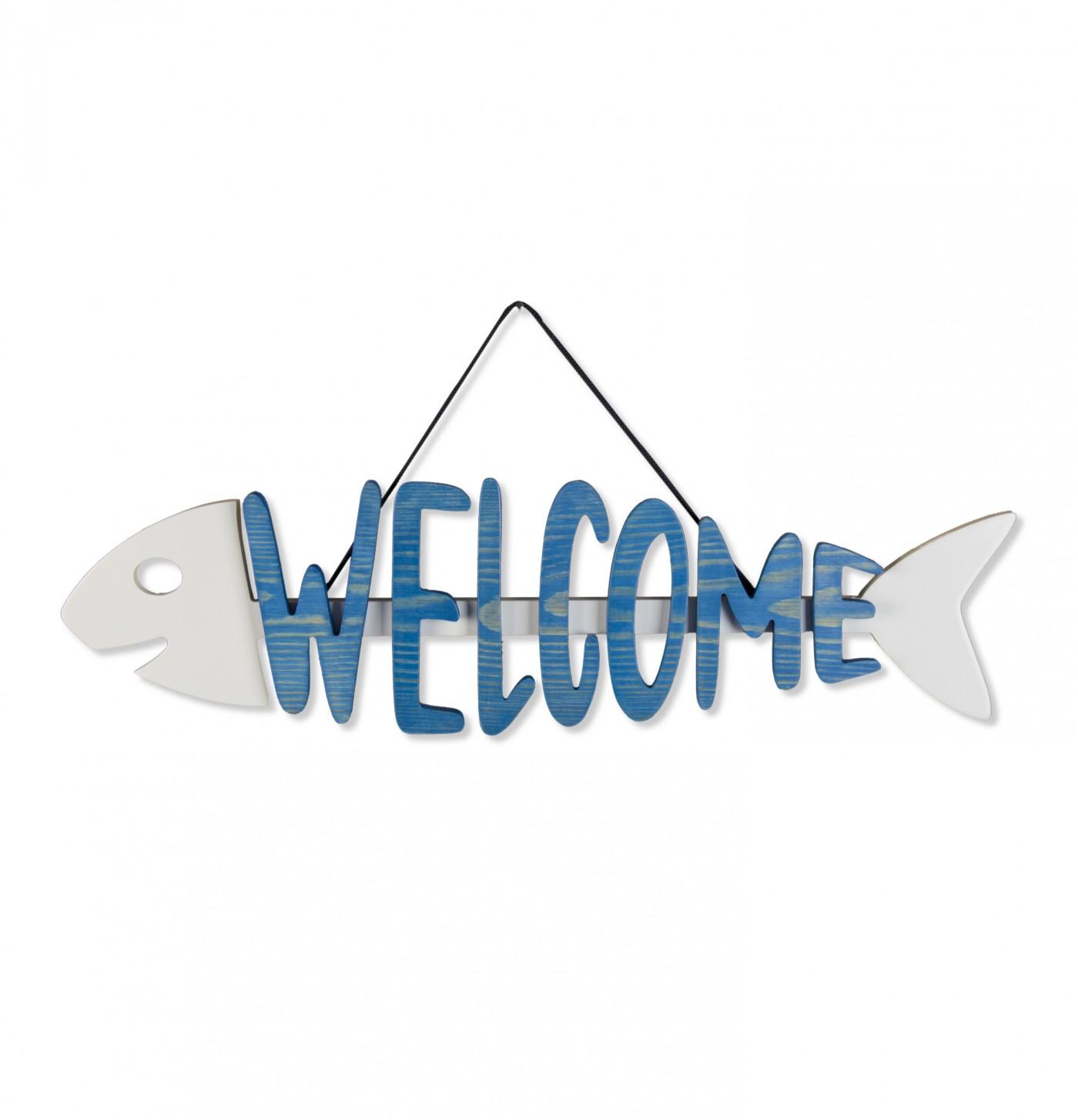 Welcome Balık Ege Mavisi Dekoratif Obje