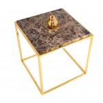 Mermer Görünümlü Sehpa Emperador/Gold