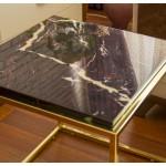 Mermer Görünümlü Sehpa Elazığ Vişne/Gold