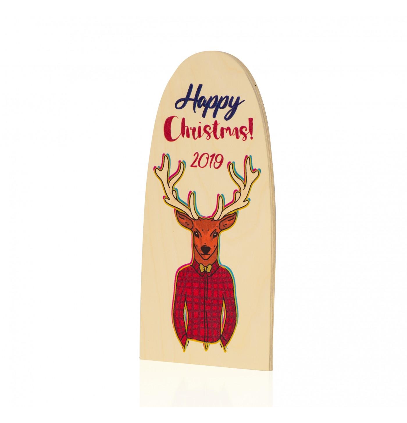 Happy Christmas Geyik Dekoratif Obje